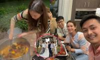 Hậu công khai kết hôn với chồng kém tuổi, Hoa hậu Thu Hoài làm tiệc cưới giản dị tại Mỹ